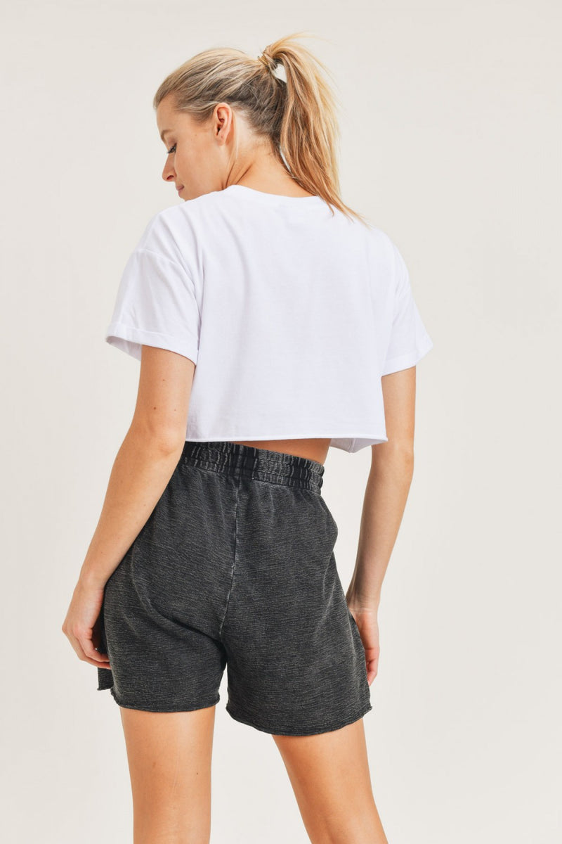 Essential Boxy Cropped Tee
