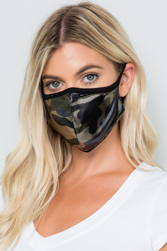 Shine On Camo Mask
