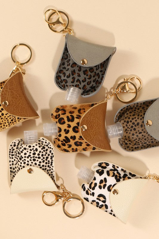 Animal Print Calf Hair Mini Hand Sanitizer