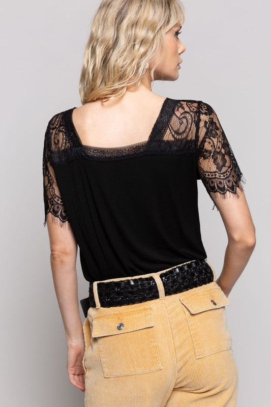 Cocktail Hour Lace Tee