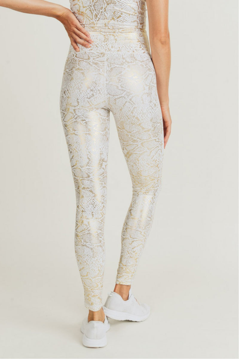 Gold Snakeprint Leggings