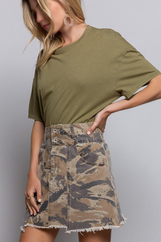 All Good Camo Skirt