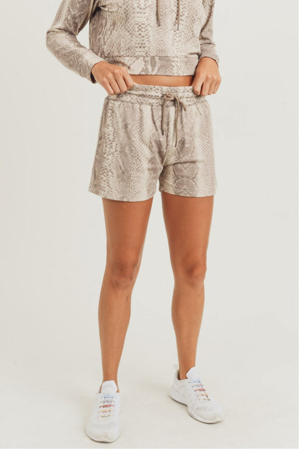 Sepia Snake Lounge Shorts