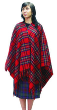 Load image into Gallery viewer, Lambswool Tartan Cape