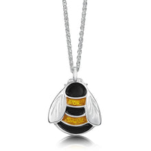 Load image into Gallery viewer, Bumblebee Enamel Dress Pendant