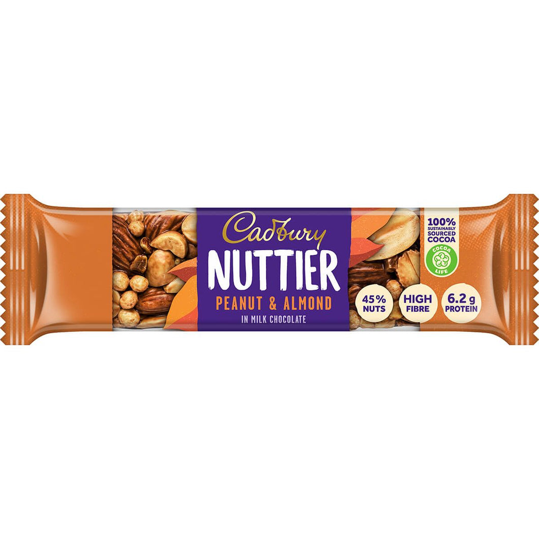Cadbury Nuttier Peanut and Almond Milk Chocolate Bar
