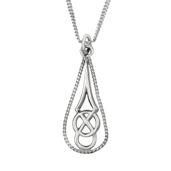 Celtic Silver Teardrop 'Aideen