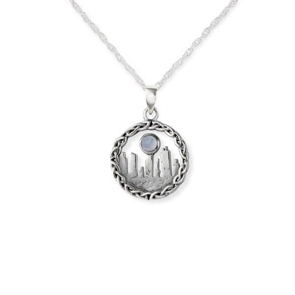 Outlander Inspired Standing Stones Silver Pendant- Small