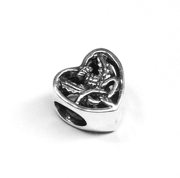 Outlander Inspired Silver Keepsake Heart Bead