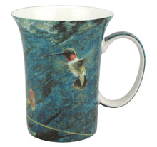 Load image into Gallery viewer, Bateman Ruby-Throat and Columbine Crest Mug