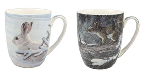 Bateman Woodland Animals Mug Pair