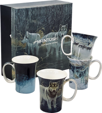 Load image into Gallery viewer, Bateman Wolves Set of 4 Mugs