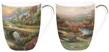Load image into Gallery viewer, Kinkade Lamplight Village Mug Pair