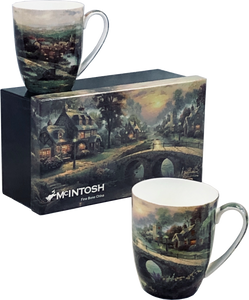 Kinkade Lamplight Village Mug Pair