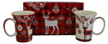 Load image into Gallery viewer, Holiday Reindeer Mug Set