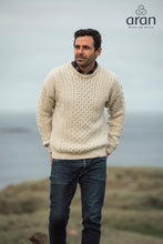 Load image into Gallery viewer, Traditional Merino Wool Aran Sweater