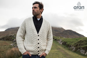 Men's Merino Wool V-Neck Cardigan
