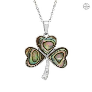 Shanore Pendant Shamrock Sterling Silver & Abalone