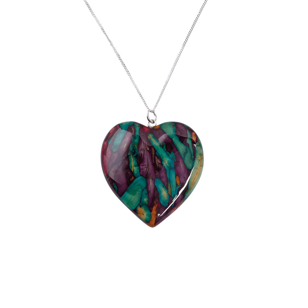 Heathergems Large Heart Pendant