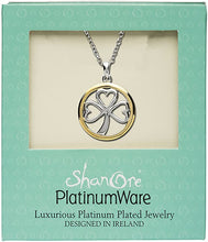Load image into Gallery viewer, Platinum Plated Shamrock Pendant
