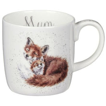 "Load image into Gallery viewer, Fox ""Mum"" 14oz Fine Bone China Mug"