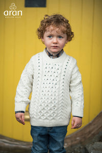 Children's Aran Cable Knit Sweater