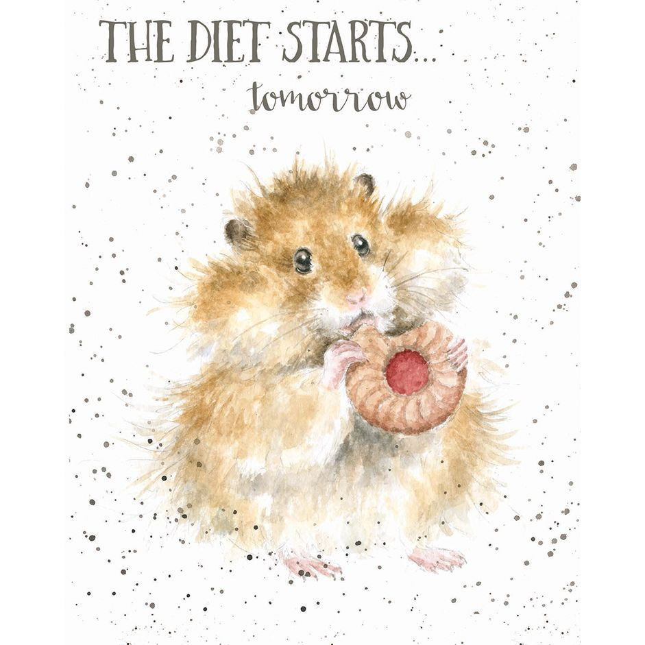 The Diet Starts Tomorrow Card