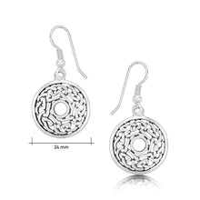 Load image into Gallery viewer, Celtic Drop Earrings in Sterling Silver