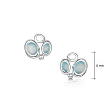 Load image into Gallery viewer, Arctic Stream Small Stud Earrings in Arctic Blue Enamel