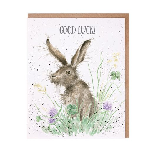 'Clover' Good Luck Card