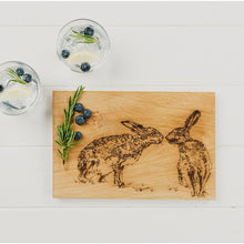 Load image into Gallery viewer, Kissing Hares Oak Serving Board