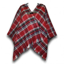 Load image into Gallery viewer, Tartan Poncho with hood