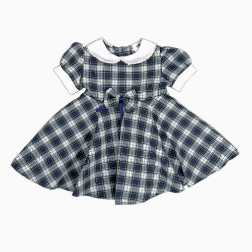 Tartan Dress with Full Circle Skirt in Royal Stewart - 6mths