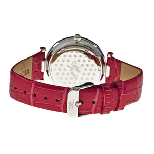 Sophie & Freda Kew Leather-Band Ladies Watch - Red - SAFSF1802