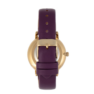 Sophie & Freda Breckenridge Leather-Band Watch - Gold/Purple - SAFSF4705