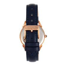 Load image into Gallery viewer, Sophie and Freda Mykonos Mother-Of-Pearl Leather-Band Watch - Navy - SAFSF5504