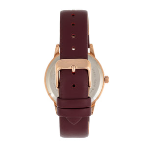 Sophie and Freda San Diego Leather-Band Watch - Maroon - SAFSF5105