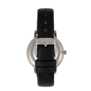 Sophie & Freda Breckenridge Leather-Band Watch - Silver/Black - SAFSF4704