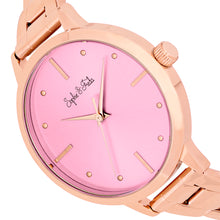 Load image into Gallery viewer, Sophie and Freda Milwaukee Bracelet Watch - Rose Gold/Mauve - SAFSF5806