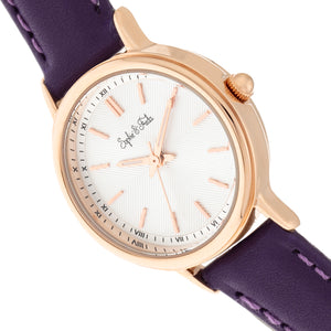 Sophie & Freda Berlin Leather-Band Watch - Purple - SAFSF4805