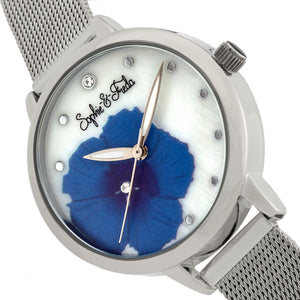 Sophie and Freda Raleigh Mother-Of-Pearl Bracelet Watch w/Swarovski Crystals - Blue - SAFSF5702