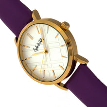 Load image into Gallery viewer, Sophie and Freda Budapest Leather-Band Watch - Purple - SAFSF5003