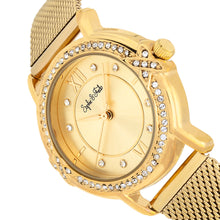 Load image into Gallery viewer, Sophie and Freda Reno Bracelet Watch w/Swarovski Crystals - Gold - SAFSF5403