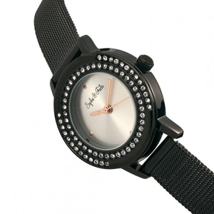 Sophie & Freda Cambridge Bracelet Watch w/Swarovski Crystals - Black - SAFSF4103