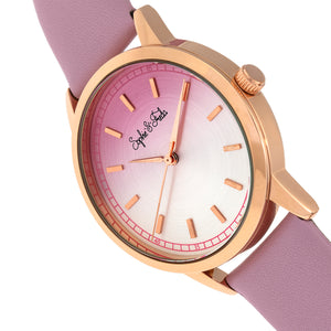 Sophie and Freda San Diego Leather-Band Watch - Pink - SAFSF5106