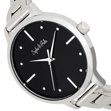 Load image into Gallery viewer, Sophie and Freda Milwaukee Bracelet Watch - Silver/Black - SAFSF5801