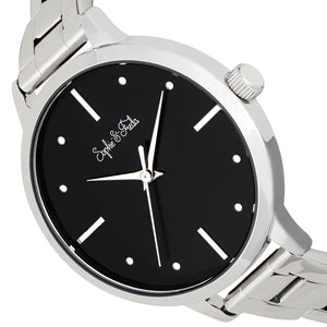 Sophie and Freda Milwaukee Bracelet Watch - Silver/Black - SAFSF5801
