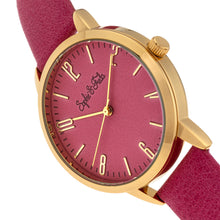 Load image into Gallery viewer, Sophie and Freda Vancouver Leather-Band Watch - Pink - SAFSF4903