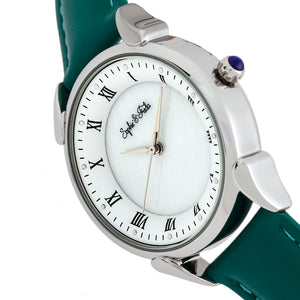 Sophie and Freda Mykonos Mother-Of-Pearl Leather-Band Watch - Teal - SAFSF5502