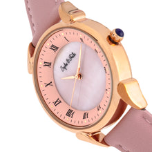 Load image into Gallery viewer, Sophie and Freda Mykonos Mother-Of-Pearl Leather-Band Watch - Light Pink - SAFSF5505